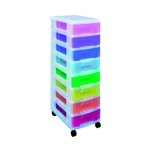 Really Useful Storage Tower With 8 Drawers Multicoloured DT1007