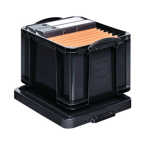 Really Useful 35L Recycled Plastic Storage Box Black 35Black R