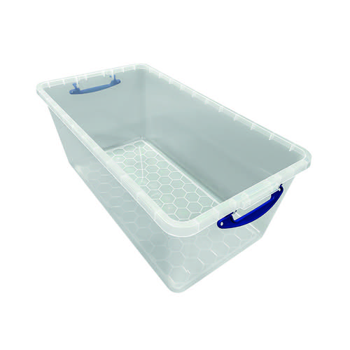 Really Useful 82 Litre New Nestable Clear 82C