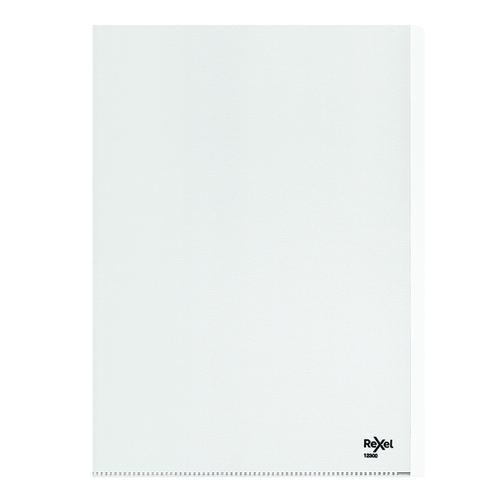 Rexel Nyrex Heavy Duty Folders A4 Clear (Pack of 25) 12300