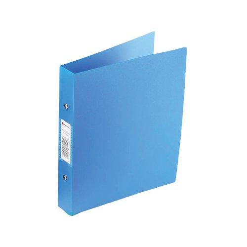 Rexel Budget 2 Ring Binder Polypropylene A4 Blue (Pack of 10) 13422BU