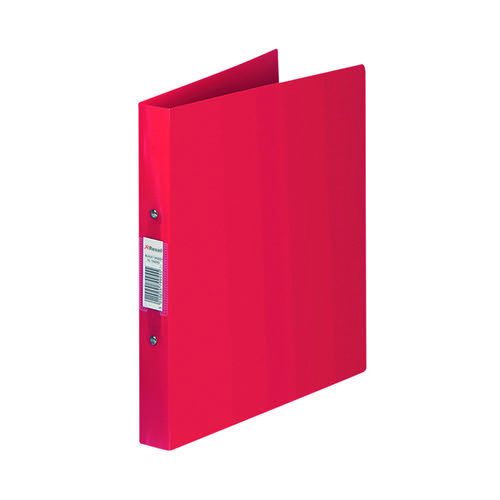Rexel Budget Ring Binder 2 Ring 25mm A4 Red (Pack of 10) 13422RD