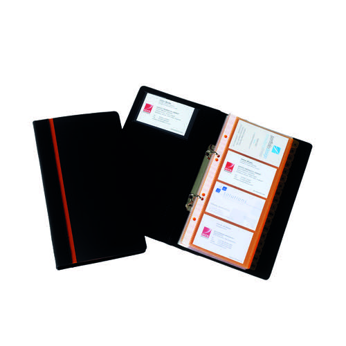 Rexel Professional Business Card Book Black 2101131