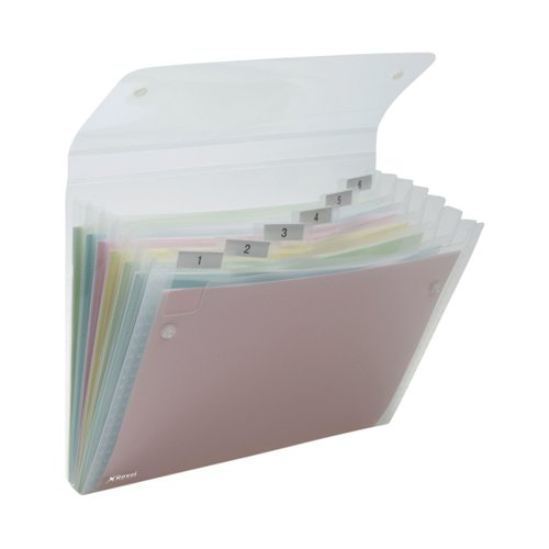 Rexel Ice Expanding Files PP 6 Pocket A4 Clear (Pack of 10) 2102033