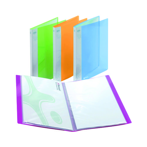 Rexel Ice Display Book 20 Pocket A4 Assorted (Pack of 10) 2102038