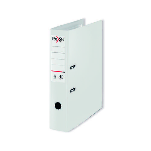 Rexel Choices 75mm Lever Arch File Polypropylene White 2115515
