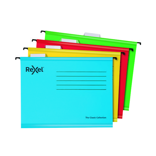 Rexel Classic Suspension Files A4 Assorted (Pack of 10) 2115585
