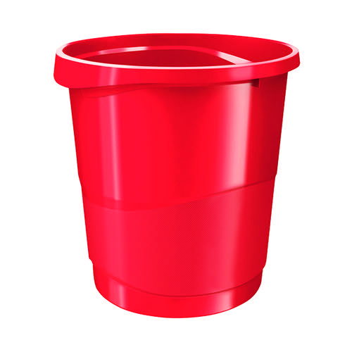 Rexel Choices 14-Litre Waste Bin Red (Stackable) 2115618
