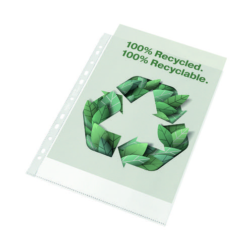 Rexel Pocket Recycled PP 70 micron A4 White (Pack of 100) 2115702 by ACCO Brands, RX61705