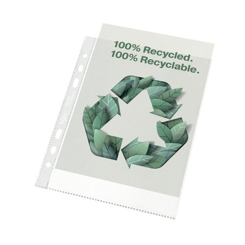 Rexel Pocket Recycled PP 70 micron A5 White (Pack of 50) 2115703