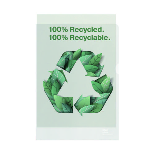 Rexel Folder Recycled PP 100 micron A4 White (Pack of 100) 2115704 by ACCO Brands, RX61709