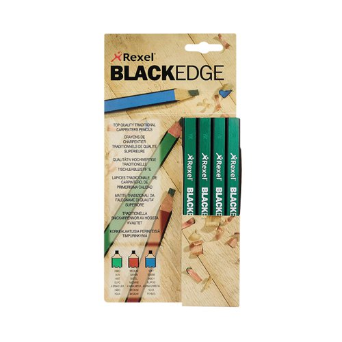 Derwent Blackedge Carpenters Pencils Hard (Pack of 12) 34332