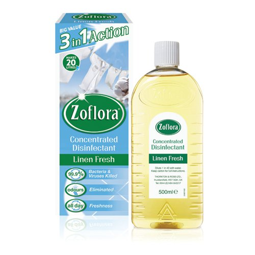 Zoflora Disinfectant Linen Fresh 500ml (Pack of 12) RY20963