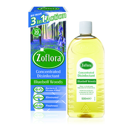 Zoflora Disinfectant Bluebell Woods 500ml (Pack of 12) RY20953 by Zoflora, RY02892