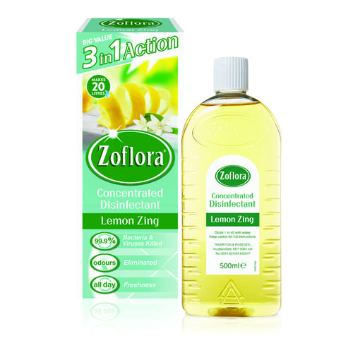 Zoflora Disinfectant Lemon Zing 500ml (Pack of 12) RY20957 by Zoflora, RY02912