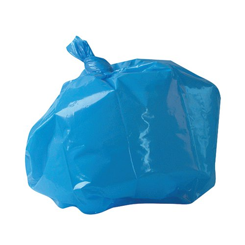 2Work Medium Duty Refuse Sack Blue (Pack of 200) RY15521