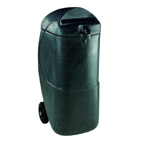 Black 90 Litre Mobile Confidential Waste Bin With Lock 313708