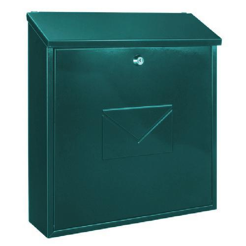 Firenze Green Steel Plate Lockable Mail Box 371792