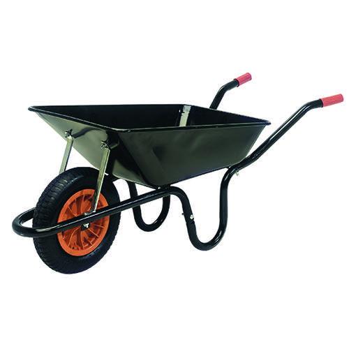 Heavy Duty Wheelbarrow 85 Litre Black 379990