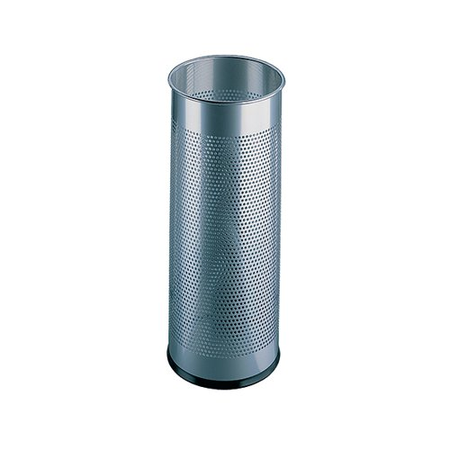 Umbrella/Waste Bin Perforated Silver 310253