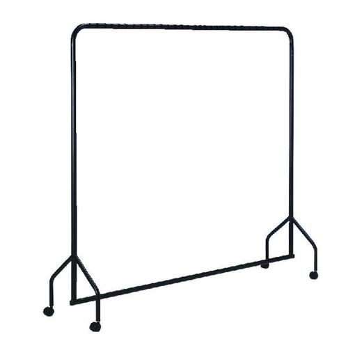 VFM Black Metal Garment Rail with Castors - 311416