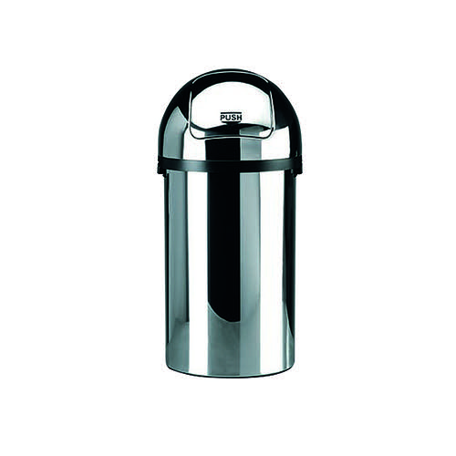 Push Bin 50 Litre Chrome (H825 x D405mm High grade chromium steel) 311733