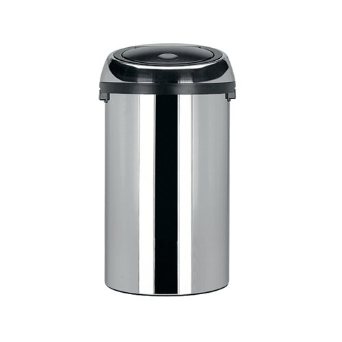 Touch Top Waste Bin 50 Litre Steel 311734