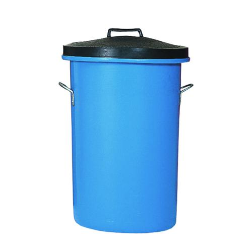 Heavy Duty Cylindrical Storage Bin With Lid Blue 311962