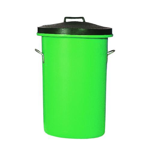 Heavy Duty Cylindrical Storage Bin With Lid Green 311964