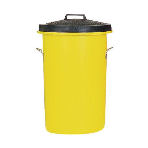 Heavyweight Cylindrical Storage Bin Yellow 311970