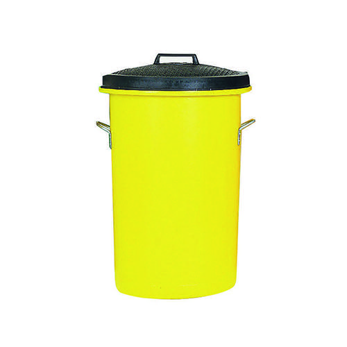 Heavy Duty Coloured Dustbin 85 Litre Yellow 311971