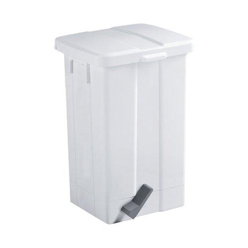 Pedal Bin 50 Litre White (W325 x D245 x H570mm shock resistant plastic) 312252