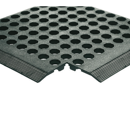 Black Rubber Worksafe Mat (900 x 1500mm 16mm Thickness) 312475