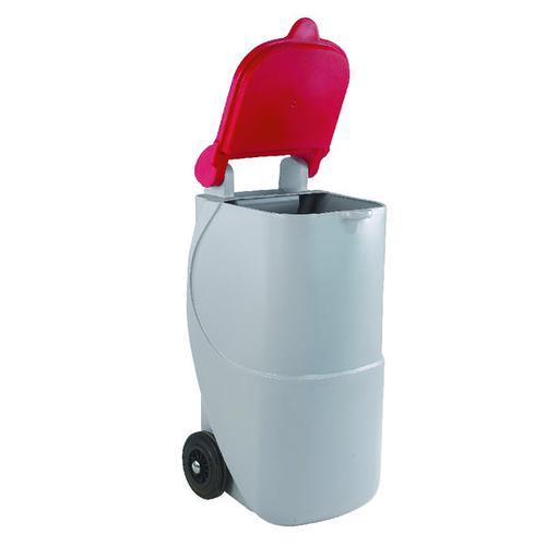 VFM Red Non-Locking Recycling Wheelie Bin (Capacity: 90 litres) 314633