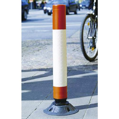 VFM Red/White High Visibility Flexible Post 1000mm 320213