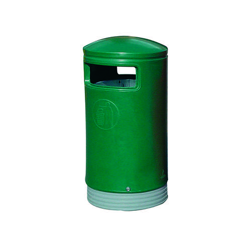 Outdoor Hooded Top Bin 75 Litre Green 321771