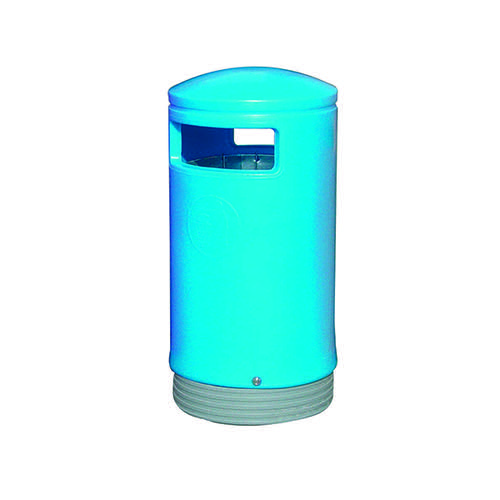 Outdoor Hooded Top Bin 75 Litre Blue 321772