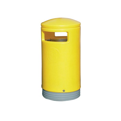 Outdoor Hooded Top Bin 75 Litre Yellow 321774