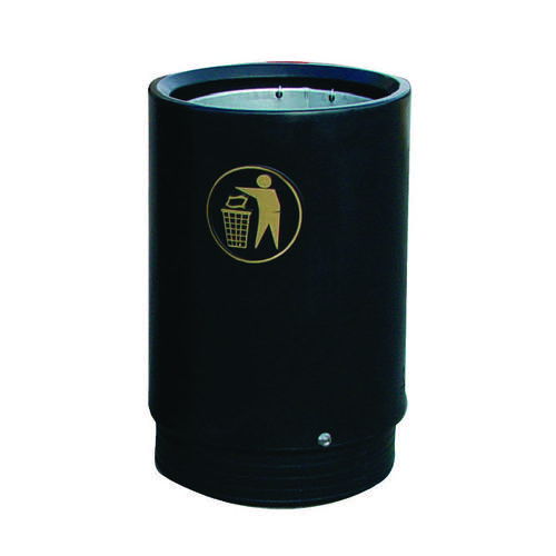 Black and Gold Victorian Open Top 75 Litre Bin 321775