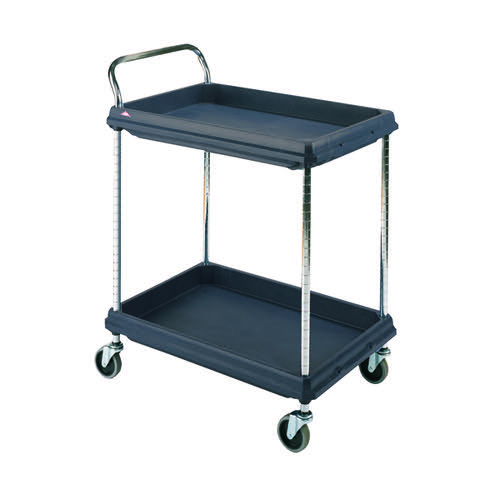 2 Tier Black 832x546x1041mm Deep Ledge Trolley 322441