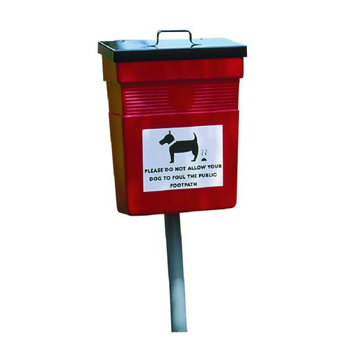 Pet Hygiene Bin 30 Litre Red (W390 x D260 x H525mm) 324475