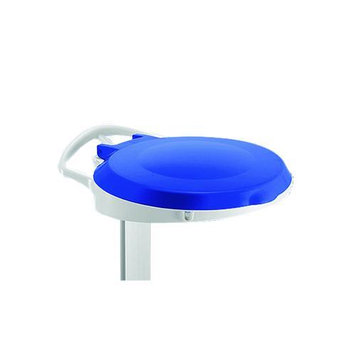 Blue Plastic Round Lid For Smile Sackholder 348033