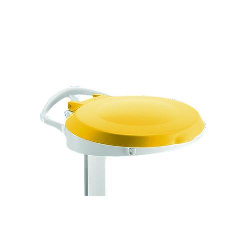 Yellow Plastic Round Lid For Smile Sackholder 348034