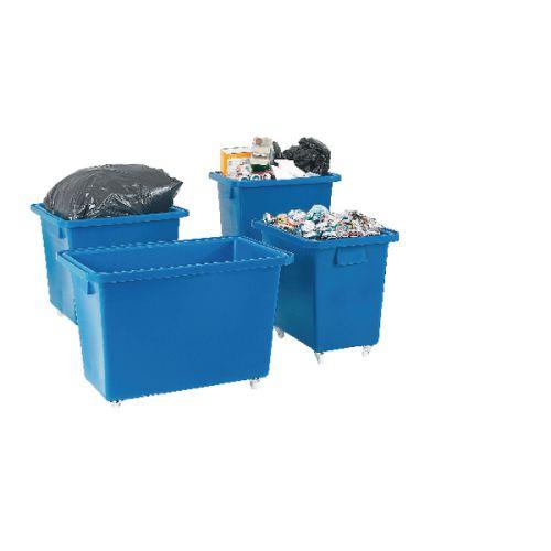 Bottle Skip 625X570X570mm 4X50mm Swivel Blue 328232