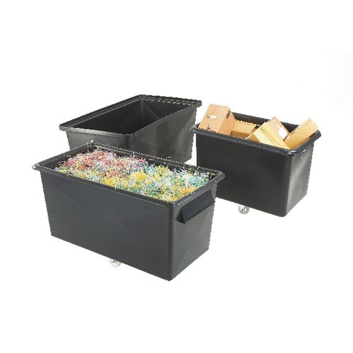 Recycled Container Truck Poly Tapered Sided Black 329063 Container Trucks SBY13295
