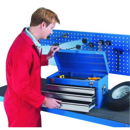 Tool Chest 3 Drawer Blue (W508 x D303 x H255mm, fully lockable) 329228