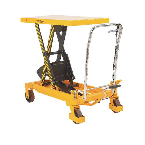 Yellow and Black Mobile Lifting Table 750kg Capacity 329459