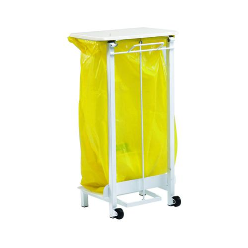 Pedal Operated Sack Holder Semi-Mobile 92 Litre White 330258