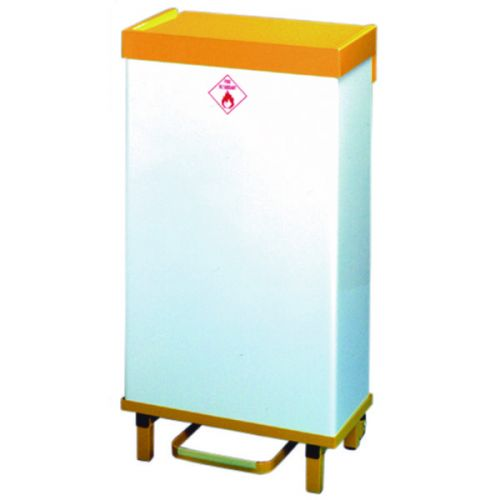 White and Yellow 64 Litre Fire Retardant Waste Bin 330330