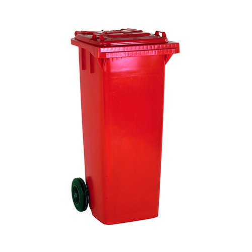 Wheelie Bin 140 Litre Red (W480 x D555 x H1070mm) 331156